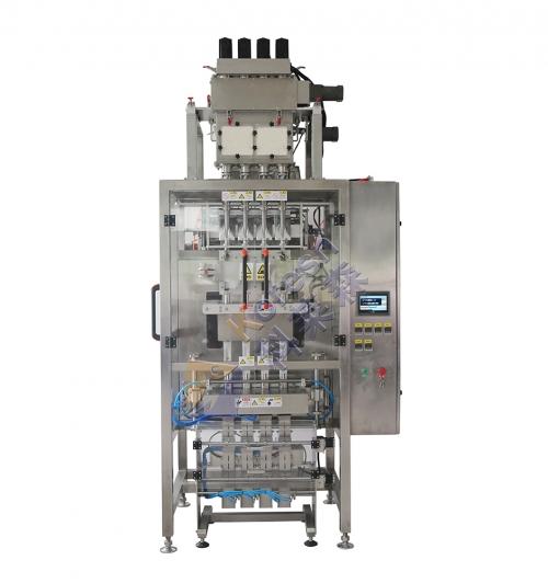4列粉剂包装机+在线称重反馈剔除装置
